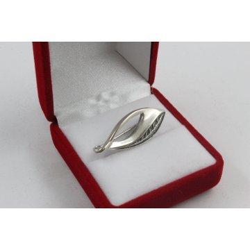 Сребърна брошка тъмно сребро 4350