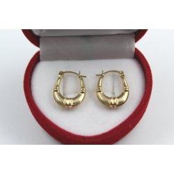 Златни дамски обеци жълто злато 4366