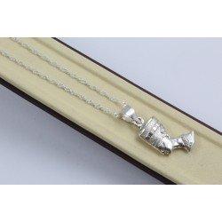 Дамско сребърно ретро колие Нефертити 4391