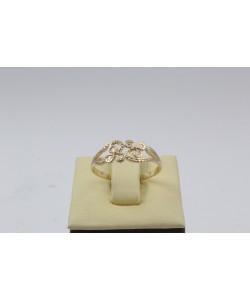 Дамски златен ретро пръстен Детелини 4392