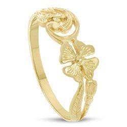 Дамски златен ретро пръстен Детелинa 4393