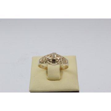 Дамски златен пръстен с ретро дизайн 4394