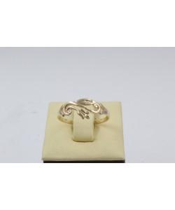 Дамски златен пръстен с ретро дизайн Лале 4395
