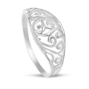 Дамски сребърен ретро пръстен 4407