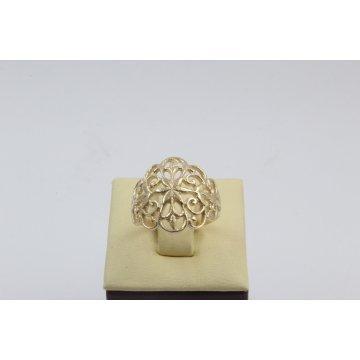 Дамски златен пръстен с ретро дизайн 4408