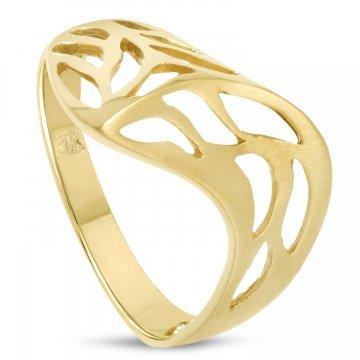 Дамски златен пръстен жълто злато 4408