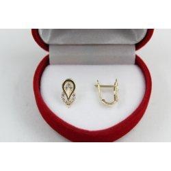 Златни детски обеци с камъни 4413