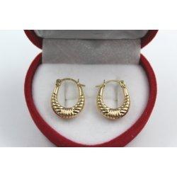 Дамски златни висящи обеци жълто злато 4421
