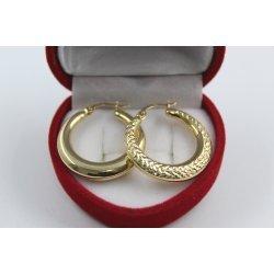 Дамски златни обеци жълто злато 4422
