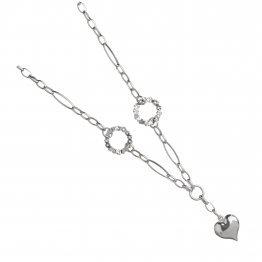 Дамско сребърно колие Милена Сърце 4425