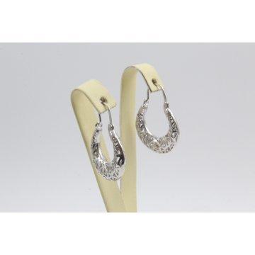Дамски сребърни обеци ретро модел Испанка 4427