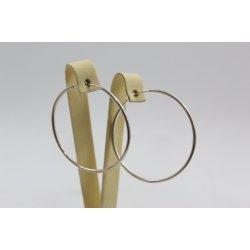 Дамски сребърни обеци халки модел 4432