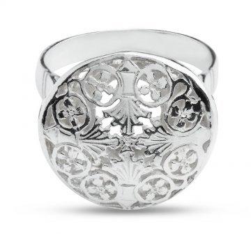 Дамски сребърен пръстен Корона ретро модел 4437