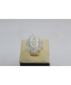 Дамски сребърен пръстен Бадем Ажур ретро модел 4444