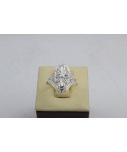 Дамски сребърен пръстен Бадем Мини 2 ретро модел 4445