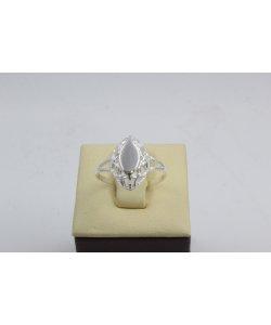 Дамски сребърен пръстен Бадем Мини 3 ретро модел 4446