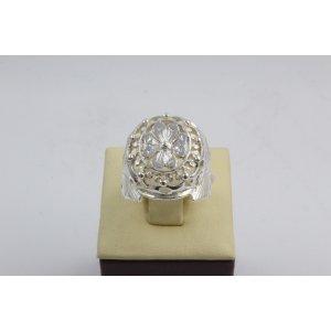 Дамски сребърен пръстен Корона 2 ретро модел 4448