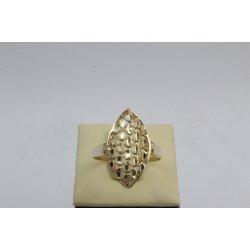 Златен дамски пръстен Бадем Ажур ретро модел 4452