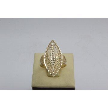 Златен дамски пръстен Бадем Ажур 2 ретро модел 4459
