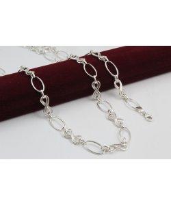 Дамски сребърен комплект Нео Безкрайност колие и гривна 4464