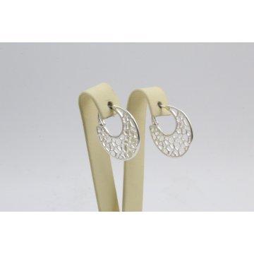 Дамски сребърни дизайнерски обеци 4484
