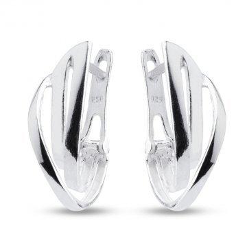 Дамски висящи сребърни обеци с бели камъни 4487