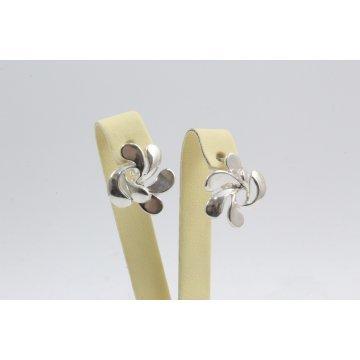 Дамски сребърни обеци Хризантема 4491