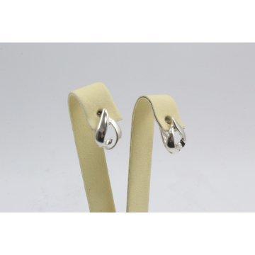 Дамски сребърни обеци английско закопчаване 4495