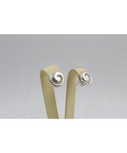 Дамски сребрни обеци на винт 4499