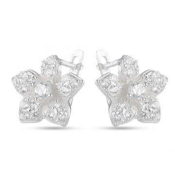 Дамски сребърни обеци 4510