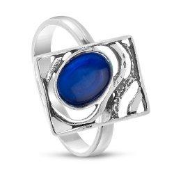 Дамски сребърен пръстен Лунна Нощ Индиго 2983