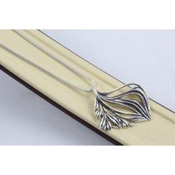 Дамско сребърно колие тъмно сребро 4517