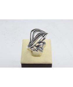 Дамски сребърен пръстен тъмно сребро 4519