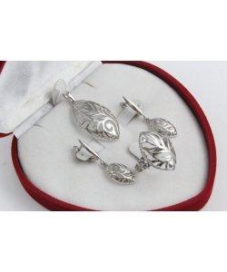 Дамски сребърен родиран комплект 4531