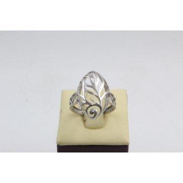 Дамски сребърен родиран пръстен 4534
