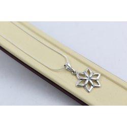 Сребърни дамски висящи обеци Цветята на Марго 4541