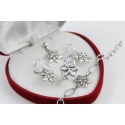 Дамски сребърен комплект Цветята на Марго 4539