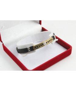 Унисекс златна гривна бяло жълто злато Горгона Медуза 4544