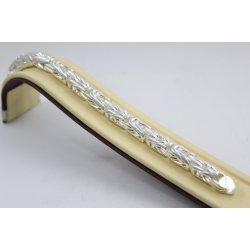 Сребърна унисекс едра плътна гривна кралска плетка 4545
