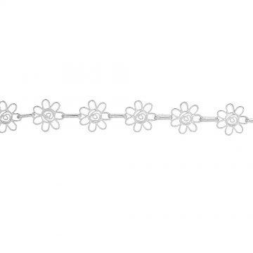 Дамска сребърна гривна Пролет 4547