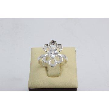 Дамски сребърен пръстен с бели камъни Лято 2994