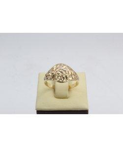 Дамски златен пръстен ретро модел жълто злато 4560