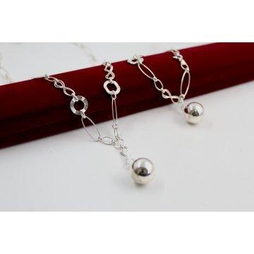 Дамска сребърна гривна Истинска Любов 4563