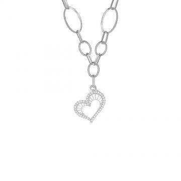 Дамско сребърно колие Сърцето на Афродита 4592