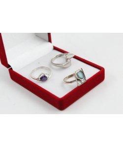 РАЗПРОДАЖБА промо пакет три дамски сребърни пръстена 4594