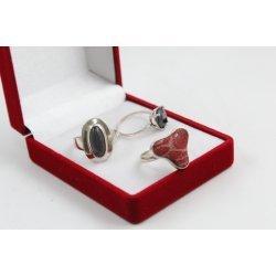 РАЗПРОДАЖБА промо пакет три дамски сребърни пръстена 4595