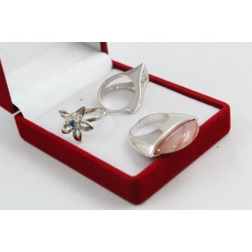 РАЗПРОДАЖБА промо пакет три дамски сребърни пръстена 4596