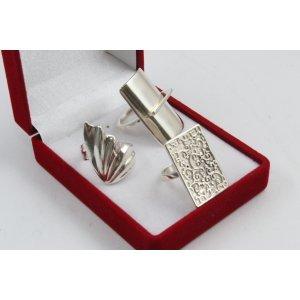 РАЗПРОДАЖБА промо пакет три дамски сребърни пръстена 4597