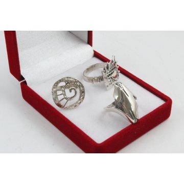 РАЗПРОДАЖБА промо пакет три дамски сребърни пръстена 4599