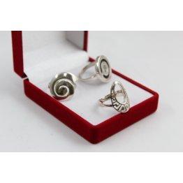 РАЗПРОДАЖБА промо пакет три дамски сребърни пръстена 4601